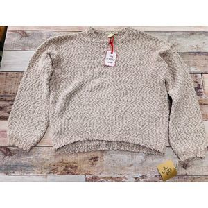 Yet Again creamy sweater size L NWT